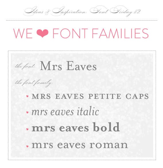 font families