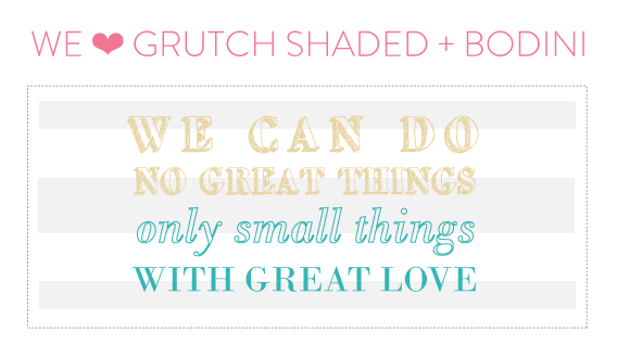 font friday 19 - grutch shaded + bodoni