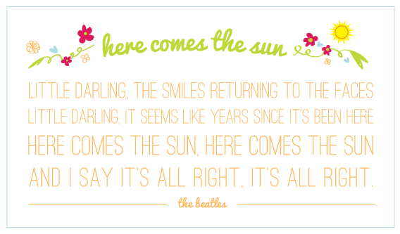 here comes the sun - beatles lyrics