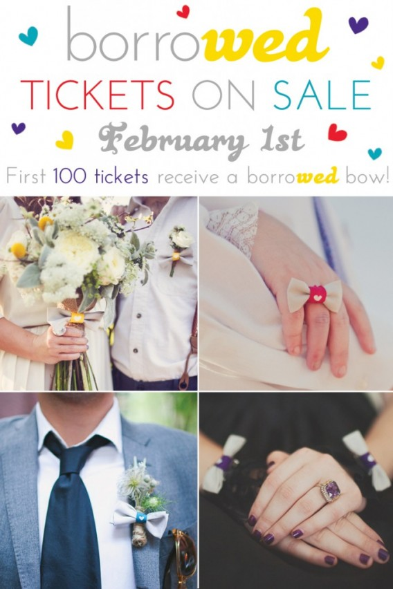 tickets for borrowed - a wedding show for the creative i do!