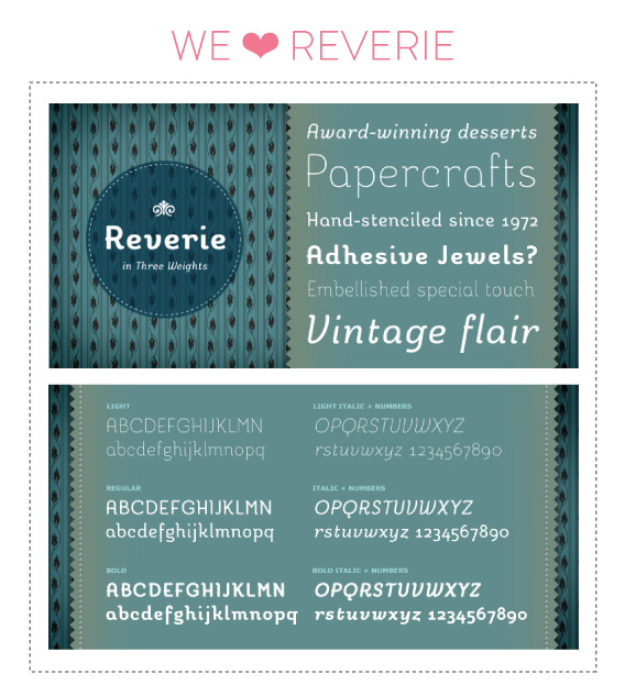 font friday 40 - reverie