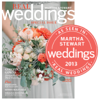 Little Bit Heart - Featured in Martha Stewart Real Weddings Issue