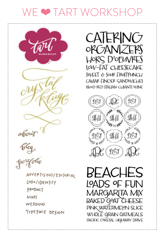 font friday #5 - tart workshop