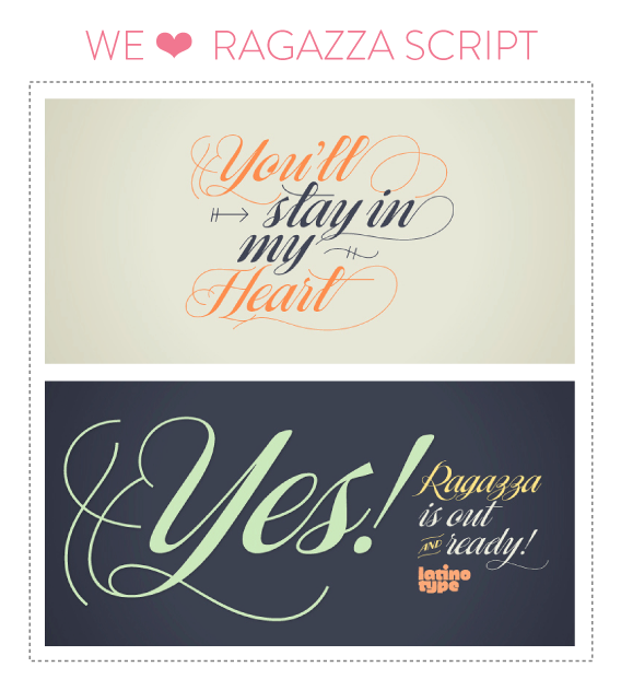 font friday 51 ragazza script by latinotype - font friday @ little bit heart