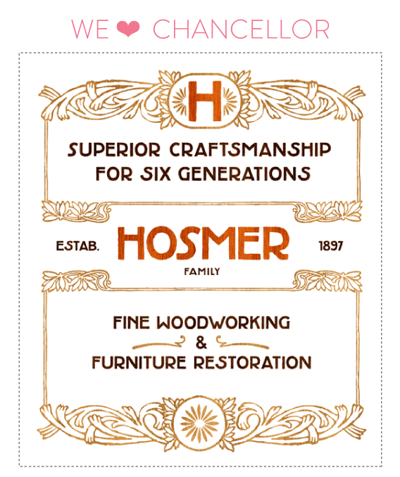 font friday @ little bit heart // font friday 52: chancellor by umbrella type