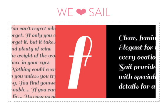 font friday @ little bit heart - sail by latinotype