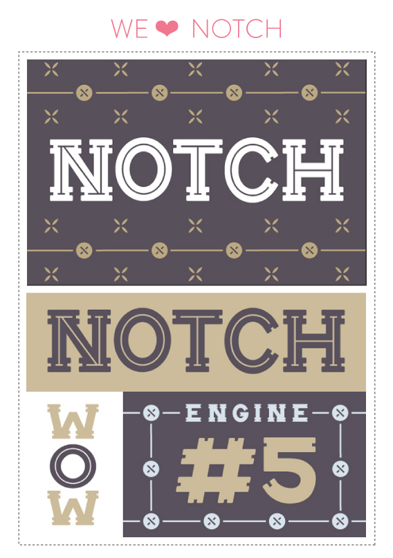 font friday @ little bit heart // font friday 54: notch by gerren lamson