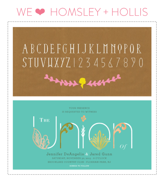 font friday 58 @ little bit heart :: homsley + hollis