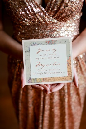 old world travel wedding inspiration shoot // photography: sarah goodwin, florals+coordination: haley tobias, paper: little bit heart,  dress: badgley mischka , rent the runway