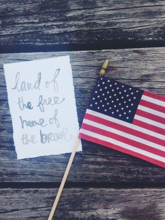 land of the free, home of the brave - happy 4th of july - littlebitheart.com