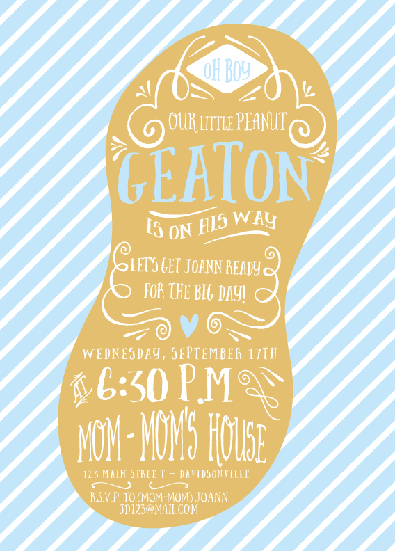 little peanut baby shower invite from little bit heart