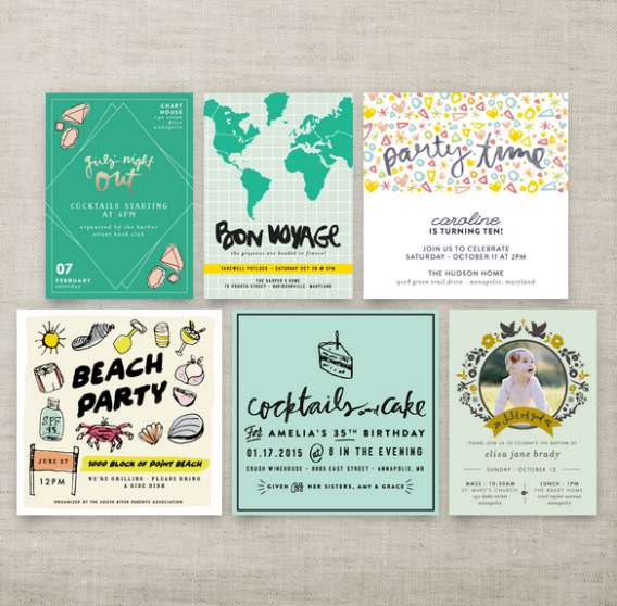 little bit heart - digital invitations entries at minted