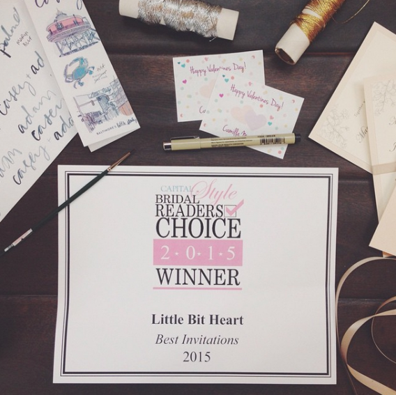 little bit heart winner best invitations 2015 - capital style bridal readers choice annapolis maryland